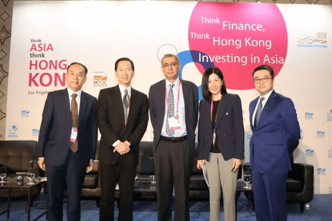 Calvin Choi, together with Bernard Charnwut Chan, Romnesh Lamba, Bonnie Chan, Christopher Hui, attended 「Think Asia, Think Hong Kong」hosted by HKTDC in Los Angeles to discuss developments and trends in Hong Kong financial markets.