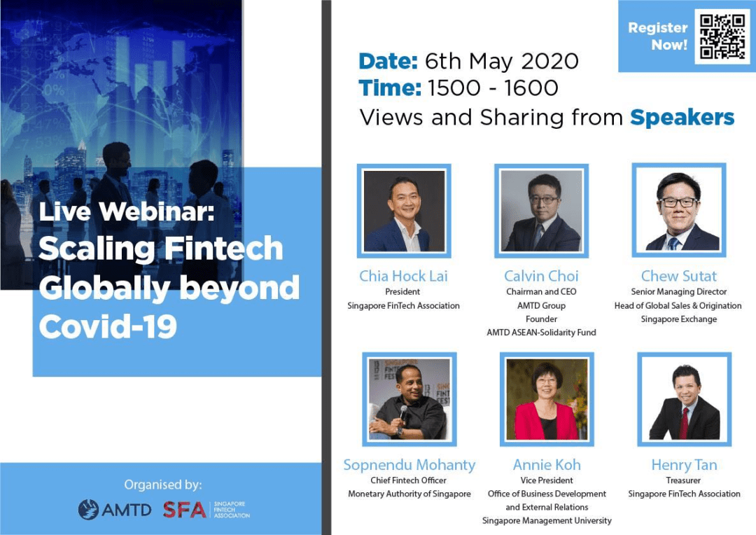 Live Webinar from leaders in AMTD, MAS, SGX, SFA and SMU!