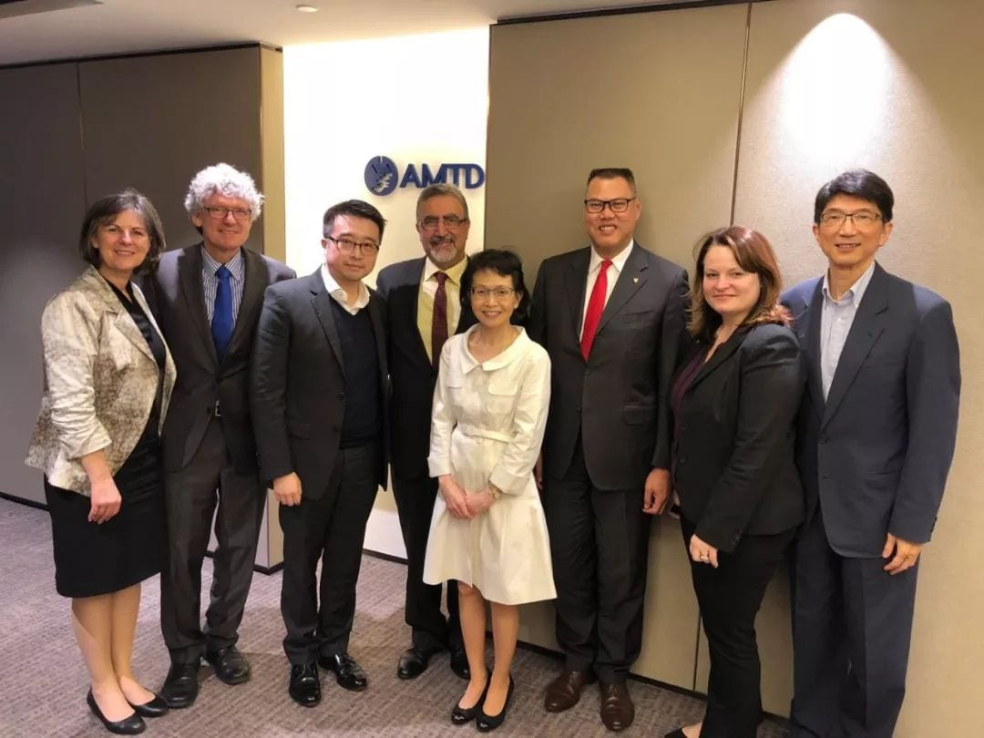 President of University of Waterloo visits AMTD's Hong Kong headquarters to further discuss the strategic partnership