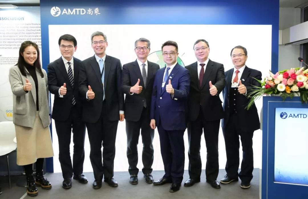 Paul Chan, Chen Zhiying, Qi Bin and Edward Yau witnessed together for the inauguration of the Greater Bay Young Entrepreneurs Association (GBYEA) jointly established by innovative enterprises including Greater Bay Area Investment Group, Royole, iFLYTEK